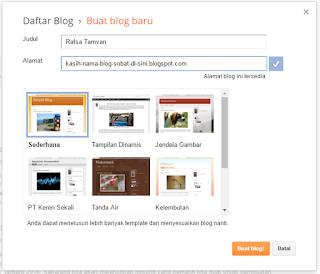 Tutorial Mudah Cara Membuat Blog Gratis di Blogspot