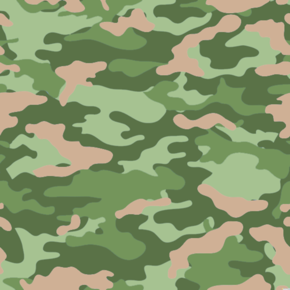 camouflage pattern in pantone colors kale green and hazelnut
