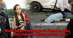 """Thumbnail image for """"Sial Punya Perempuan, Member Aku Bini Tengah Mengandung Laa.."""" – Insiden Perempuan Memandu Lawan Arus Di Highway"""