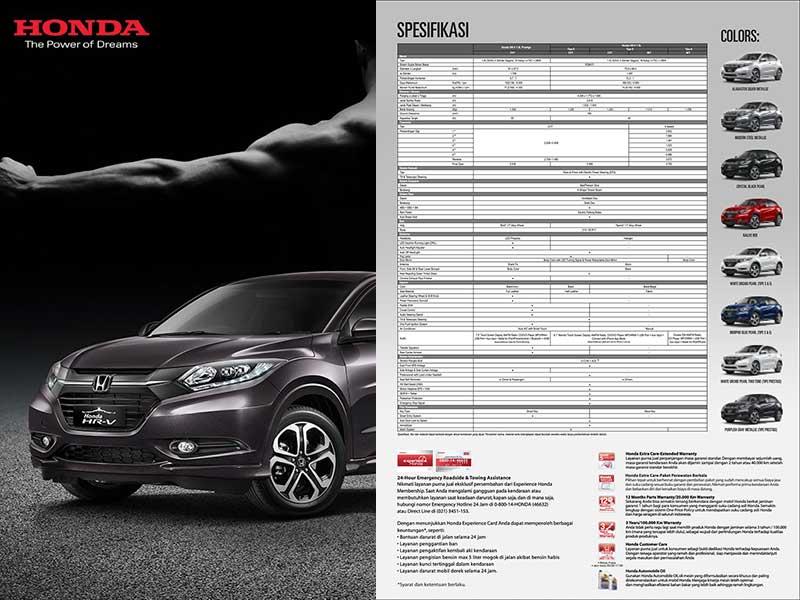 Spesifikasi Mobil Honda HR-V Bandung
