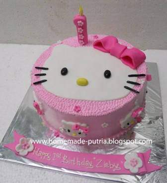 Cake Ultah Jogja Simple Hello Kitty B Day Cake From Bu