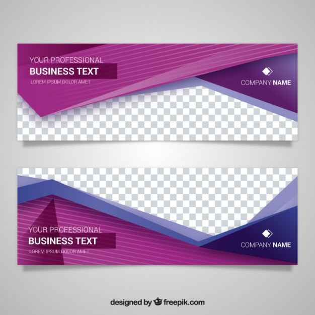 Modern banner with beautiful geometric shapes Free Vector