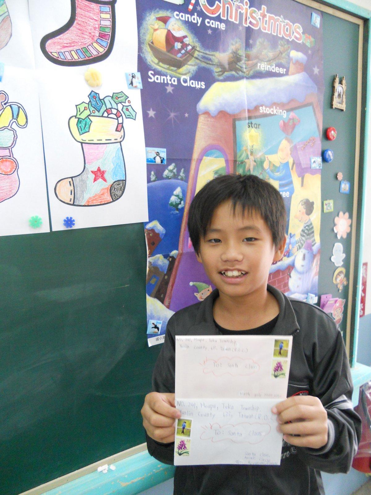 學校活動照片: 英語美勞融入:寫信給聖誕老人(實用美語)