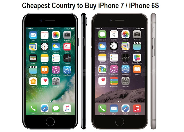Cheapest Country to Buy iPhone 7 and iPhone 6S