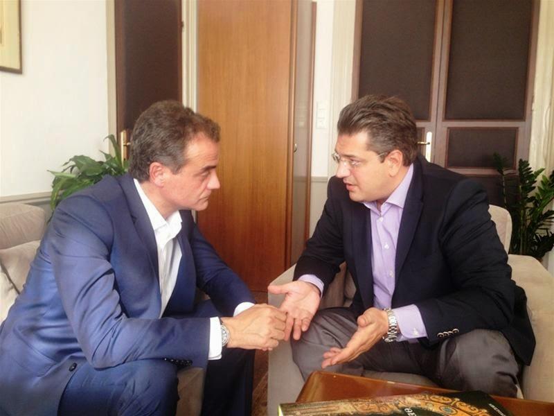 Συνάντηση του Περιφερειάρχη Δυτικής Μακεδονίας Θεόδωρου Καρυπίδη  με τον Περιφερειάρχη Κεντρικής Μακεδονίας Απόστολο Τζιτζικώστα