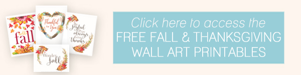 Free Fall Thanksgiving Wall Art Printables by Ellabella Designs