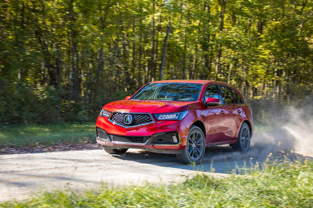 Front 3/4 view of 2019 Acura MDX AWD A-SPEC