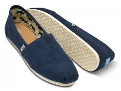 TOMS navy men's shoes