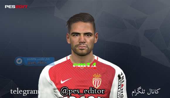PES 2017 Radamel Falcao Face by mm16