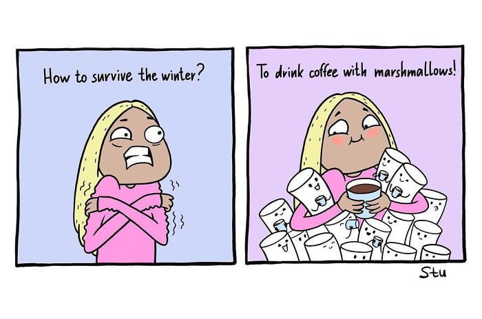 34 Amusing Illustrations Depict A Girl's Everyday Problems