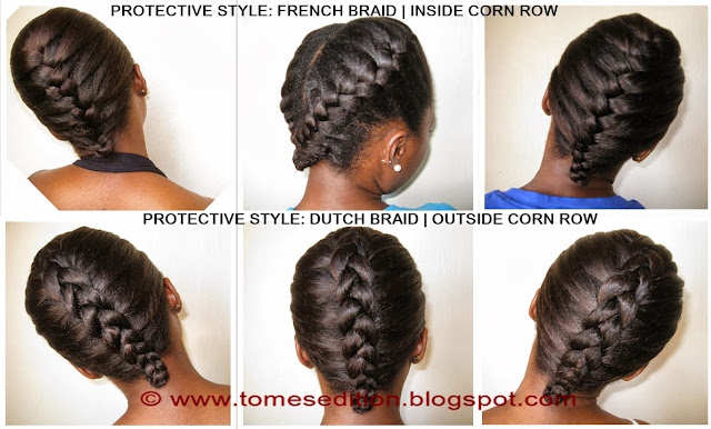 Protective Hairstyles Dutch Braids: Tomes Edition: Protective Hairstyles For Relaxed, Texlaxed