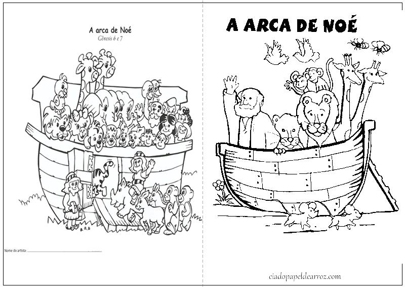 Arca De Nóe Para Colorir: Cia. Do Papel De Arroz: Livrinho De Atividades- Arca De Noé
