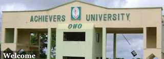 Achievers University UTME/DE Admission Form 2018