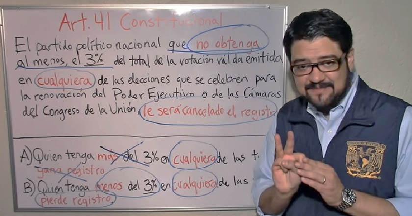 Video: Académico demuestra que no sólo PES y Panal deben perder registro