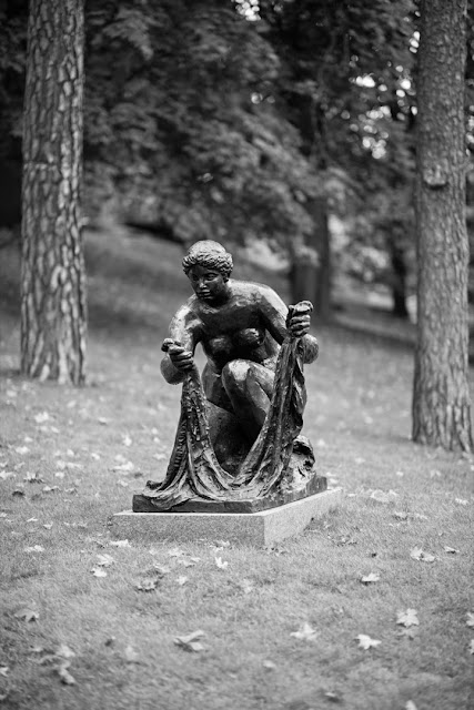 'La Grand de Laveuse,' 1917, by Renoir. This sculpture was the last piece Renoir made together with Guino and was intended to be the counterpart to another sculpture called Le Forgeron (the Blacksmith). The two were meant to symbolize contrasting fire and water or man and woman. Sadly, Le Forgeron was never completed.