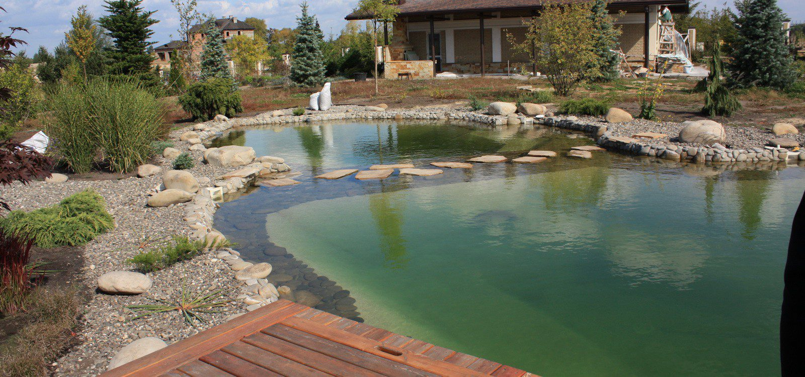 Backyard design ideas for Sustainable swimming pools