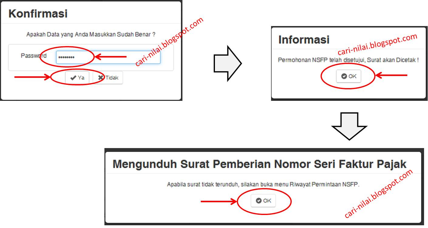 Permintaan NSPF Melalui Aplikasi e-Nofa Online