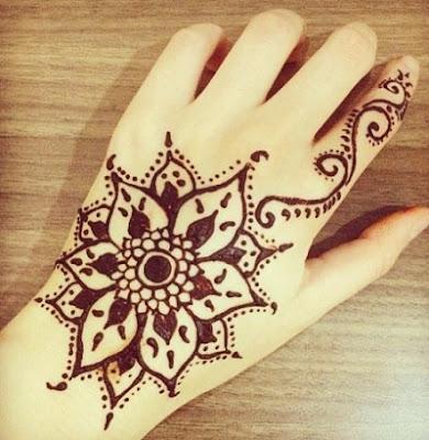 Motif Henna Untuk Pemula Mawar Ku