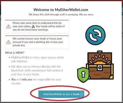 tutorial paso a paso guardar criptomonedas CIVIC my ether wallet