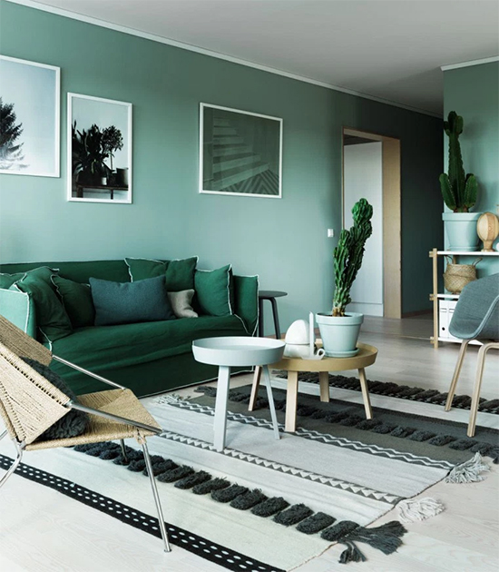 parede verde, green wall, parede colorida, pintar parede, a casa eh sua, acasaehsua, decoração, decor, sala decorada