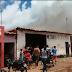 SUSTO: Carro pega fogo em Oficina de Igarapé Grande
