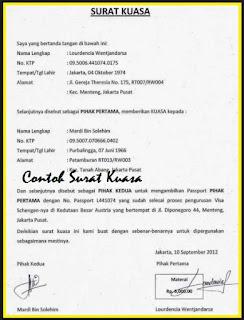 Contoh Surat Kuasa Notariil Simak Gambar Berikut