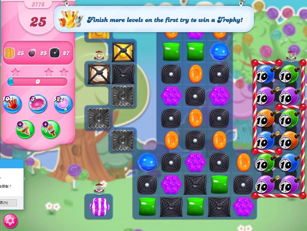 Candy Crush Saga level 3776