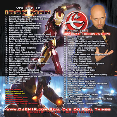 DJ Emir Iron Man Mixtape Back