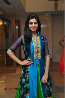 Actress Model Shamili Sounderajan Pos in Desginer Long Dress at Khwaaish Designer Exhibition Curtain Raiser  0039.JPG