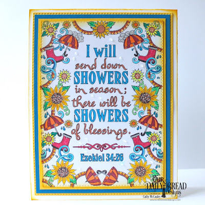 Our Daily Bread Designs Paper Collection: God's Blessings Coloring Pages, Custom Dies: Pierced Rectangles