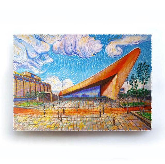 Rotterdam Centraal Station Like Van Gogh