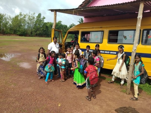 When students could not reach the school, the science teacher bought a bus and became their bus driver too