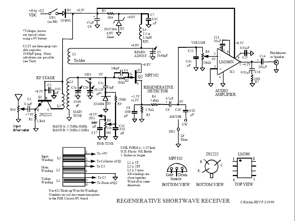 Radio Receivers Simple Regenerative Radio Receiver By