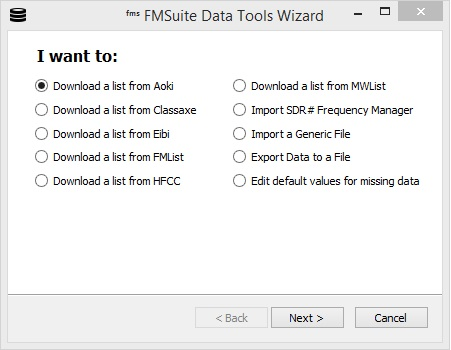 Frequency Manager Suite: Data Tools Wizard User's Guide