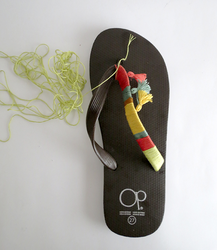 customized boho flip flops