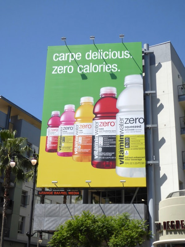 Vitamin Water Carpe delicious billboard