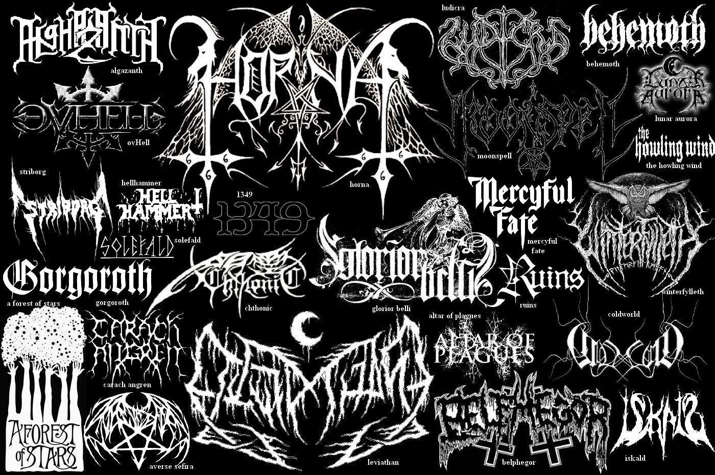 illegible black metal logo - photo #27