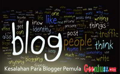 Kesalahan para blogger pemula