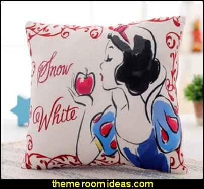 Disney snow white princess square print plush pillow snow white decor