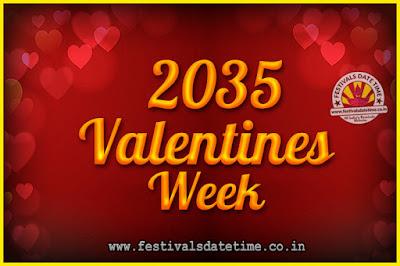 2035 Valentine Week List : 2035 Valentine Week Schedule, Hug Day, Kiss Day, Valentine's Day 2035
