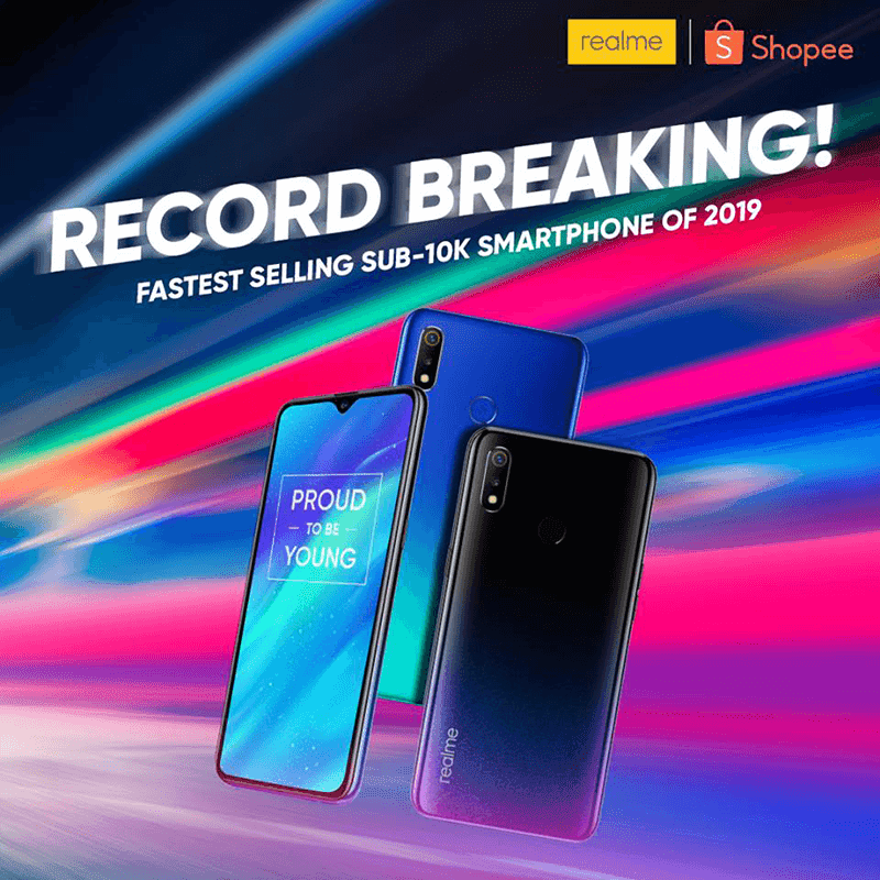 Realme 3 now the fastest selling smartphone at Shopee