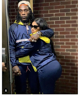 Checkout Loved-up Photo Of Burna Boy And His Bae Rocking Matching Tracksuits