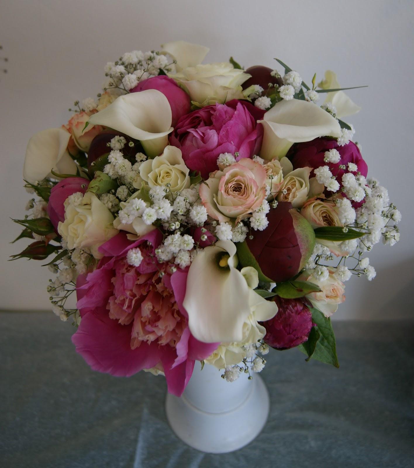 Des Magnolias Sur Ma Voie Lactee Bouquet De Mariee Tons Roses