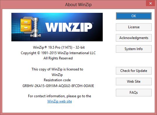 WinZip PRO 21 Serial Key