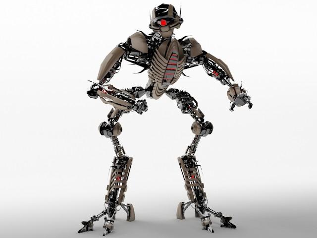 3dsMax高精度6款智能機器人合集3D模型下載
