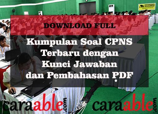 Download Soal Cpns 2019 Latihan Soal Cpns Dan