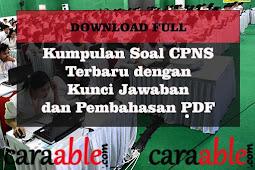 Download Soal CPNS 2019 - Latihan Soal CPNS dan Pembahasannya PDF