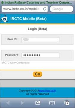 Irctc mobile site url.