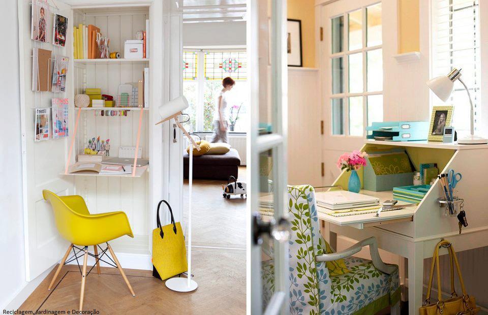 El detalle que hace la diferencia espacios peque - Escritorios para espacios reducidos ...