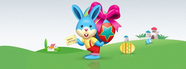 happy easter bunny facebook cover photos